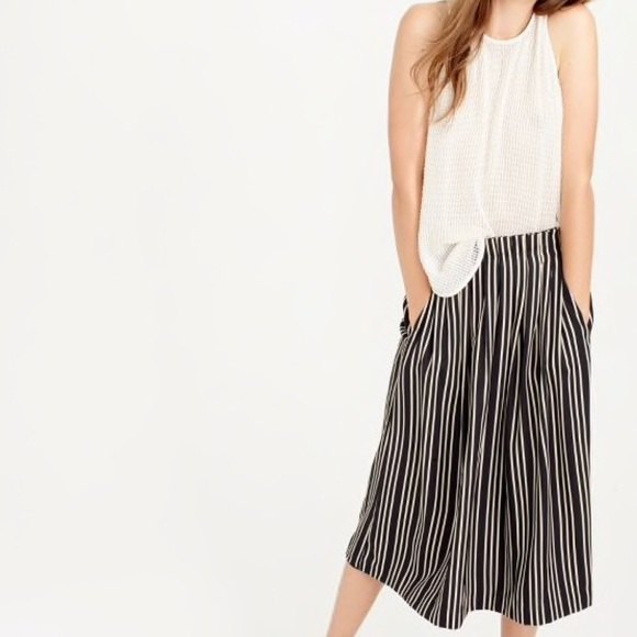 c9093ae58cec J. Crew Skirts | J Crew Pleated Midi Skirt In Triple Stripe | Poshmark